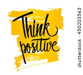 handwritten inspirational... | Shutterstock .eps vector #450203563