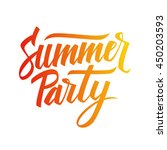 handwritten inscription summer... | Shutterstock .eps vector #450203593