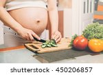 healthy eating. pregnant woman  ... | Shutterstock . vector #450206857
