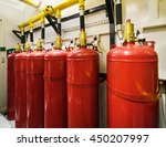cylinders and pipe fittings of...   Shutterstock . vector #450207997