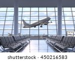 airport terminal interior with... | Shutterstock . vector #450216583