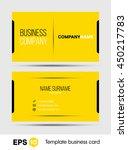 yellow business card vector... | Shutterstock .eps vector #450217783