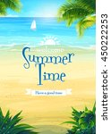 background summer vacation with ... | Shutterstock .eps vector #450222253
