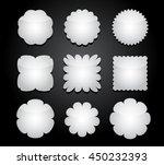 white vector shapes | Shutterstock .eps vector #450232393