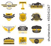 set of vintage and modern taxi... | Shutterstock .eps vector #450241267