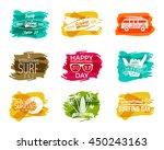 summer surfing day graphic... | Shutterstock . vector #450243163