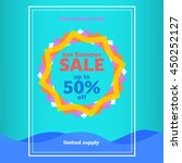 summer sales blue poster.... | Shutterstock .eps vector #450252127