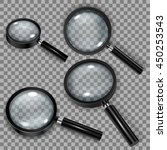 set of magnifiers with white... | Shutterstock .eps vector #450253543
