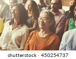 audience casual conference... | Shutterstock . vector #450254737