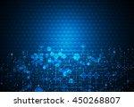 vector illustration circuit... | Shutterstock .eps vector #450268807