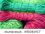 bunch of nylon wire roll in... | Shutterstock . vector #450281917