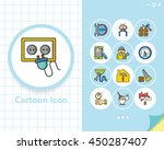 icon set repair vector