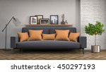 interior with sofa. 3d... | Shutterstock . vector #450297193