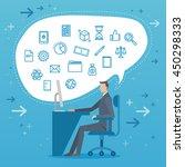 business people vector... | Shutterstock .eps vector #450298333