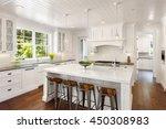 white kitchen interior with... | Shutterstock . vector #450308983