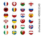 flags of europe. vector... | Shutterstock .eps vector #450311143