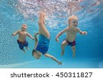 funny photo of active babies... | Shutterstock . vector #450311827