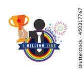 one million likes celebration... | Shutterstock .eps vector #450317767