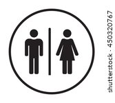 man and lady toilet    icon  ... | Shutterstock .eps vector #450320767