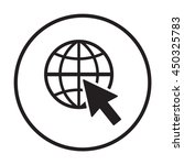 website    icon. flat design.   Shutterstock .eps vector #450325783