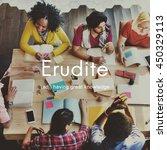 erudite academic educated... | Shutterstock . vector #450329113