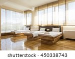 interior of a hotel bedroom   | Shutterstock . vector #450338743
