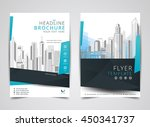blue annual report brochure... | Shutterstock .eps vector #450341737