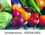 fresh vegetable and fruit | Shutterstock . vector #450341983