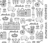 vector seamless pattern with... | Shutterstock .eps vector #450349813