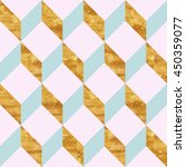 geometric pattern with gold foil | Shutterstock . vector #450359077