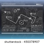 head up display navigation map... | Shutterstock .eps vector #450378907