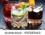 assortment of fresh iced fruit... | Shutterstock . vector #450385663