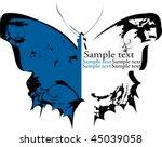 butterfly grunge vector blue... | Shutterstock .eps vector #45039058