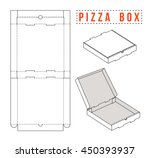 stock vector box for pizza.... | Shutterstock .eps vector #450393937