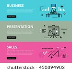 flat line web banners of... | Shutterstock .eps vector #450394903
