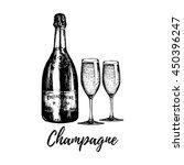 Hand Sketched Champagne Bottle...