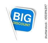 vector blue advertising label.... | Shutterstock .eps vector #450396397