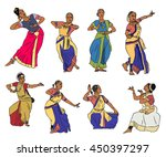 isolated indian kuchipudi and... | Shutterstock .eps vector #450397297