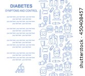 diabetes symptoms and control...   Shutterstock .eps vector #450408457