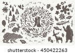 handsketched elements of... | Shutterstock .eps vector #450422263