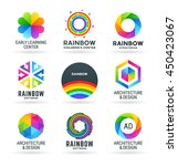 set of abstract rainbow symbols ... | Shutterstock .eps vector #450423067