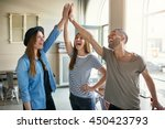 laughing young business...   Shutterstock . vector #450423793