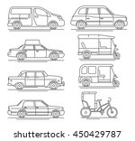 line flat vector icon set of... | Shutterstock .eps vector #450429787