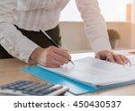 auditor or internal revenue... | Shutterstock . vector #450430537