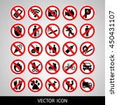 prohibited signs | Shutterstock .eps vector #450431107