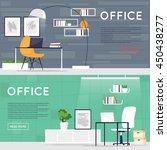 office interior. business ... | Shutterstock .eps vector #450438277