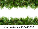 mock up with christmas tree.... | Shutterstock . vector #450445633