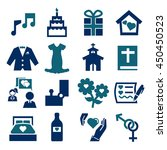 marry icon set | Shutterstock .eps vector #450450523
