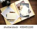 album with vintage photos and... | Shutterstock . vector #450451183