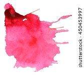 Abstract Watercolor Stain With...